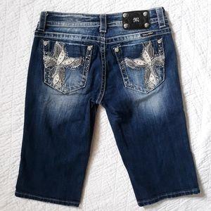 Miss Me Bermuda Shorts Embellished Size 29